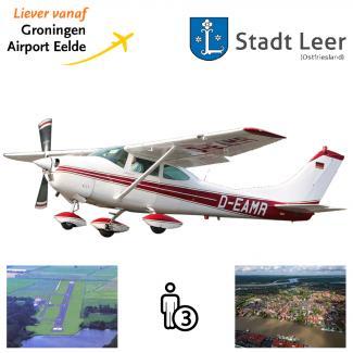Proefles | Vliegles Cessna 182 Eelde - Leer-Papenburg - Eelde  (Duitsland)