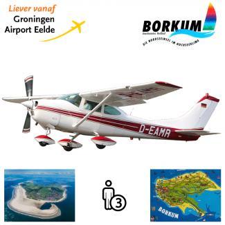 Proefles | Vliegles Cessna 182 Eelde - Borkum - Eelde (eilandvlucht)