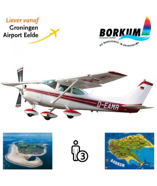 Proefles   Vliegles Cessna 182 Eelde - Borkum - Eelde (eilandvlucht)