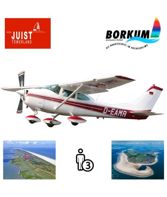 Proefles | Vliegles Cessna 182 Eelde - Juist - Borkum - Eelde (2 eilandenvlucht)