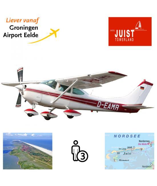 Proefles   Vliegles Cessna 182 Eelde - Juist - Eelde (eilandvlucht)
