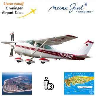 Proefles | Vliegles Cessna 182 Eelde - Norderney - Eelde (eilandvlucht)