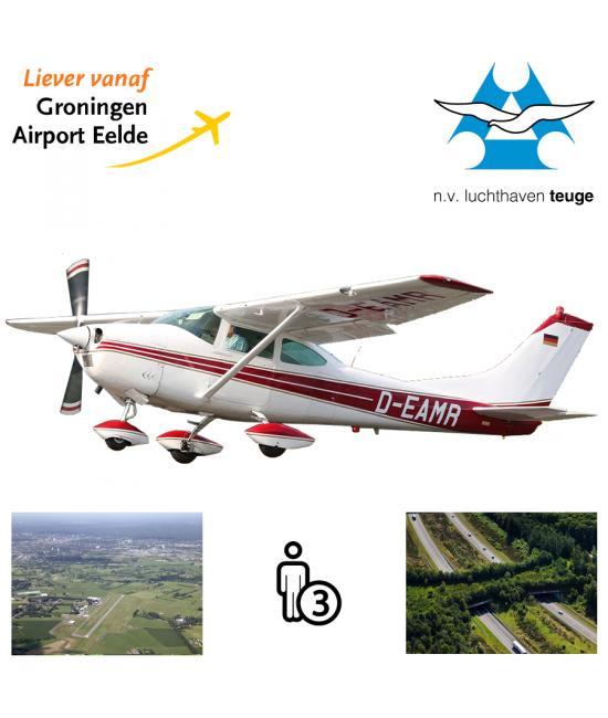 Proefles | Vliegles Cessna 182 Eelde - Teuge (Apeldoorn) - Eelde  (Nederland)