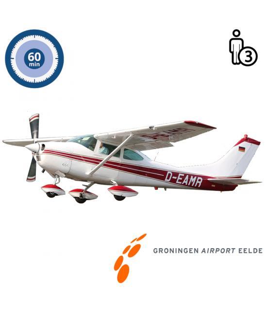 Proefles   Vliegles   Rondvlucht Cessna 182 Skylane Groningen Airport Eelde (60 minuten)