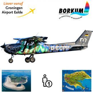 Proefles | Vliegles Cessna 150 Eelde - Borkum - Eelde (eilandvlucht)