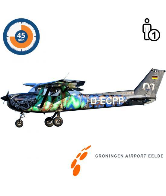 Proefles   Vliegles   Rondvlucht Cessna 150 Aerobat Groningen Airport Eelde (45 minuten)